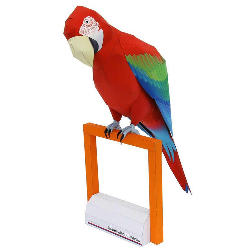 Origami: Parrot easy - BEST Origami easy tutorial - YouTube | 800x800