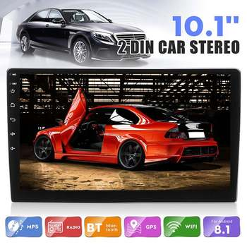 Android 8.1 Car Stereo Radio 2 Din 10.1 Inch 1+16G IPS 2.5D Touch Screen Radio GPS Navigation WIFI FM Multimedia MP4 MP5 Player image