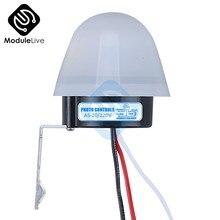 As-20 ac 110 v 220 v 10a impermeável sensível interruptor automático da foto ligar/desligar interruptor do sensor do interruptor da luz de rua fotocélula