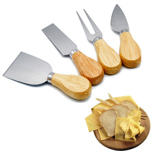 Cheese-Knife-Set Slicer Wood-Handle Cooking Stainless-Steel with Fuctional Kitchen Toos