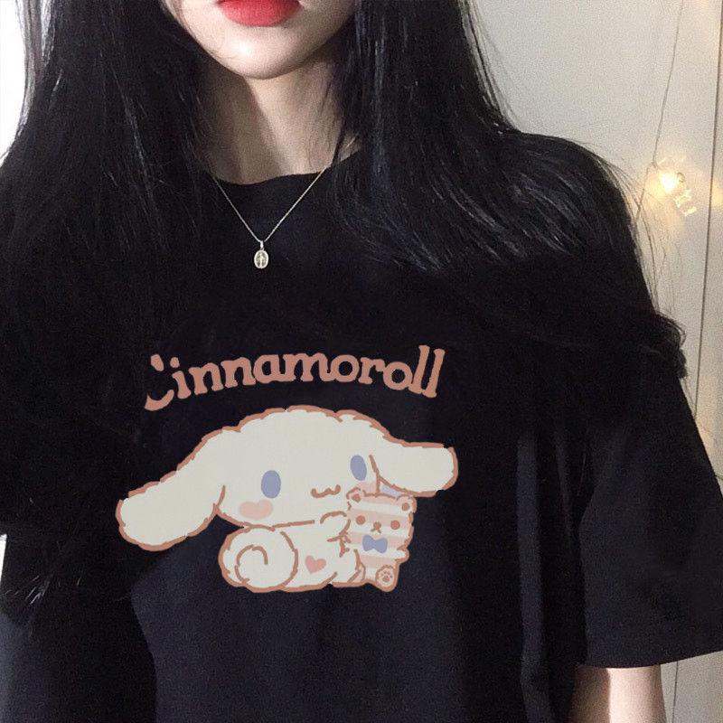 Cute Loose Cinnamoroll T-Shirt 1