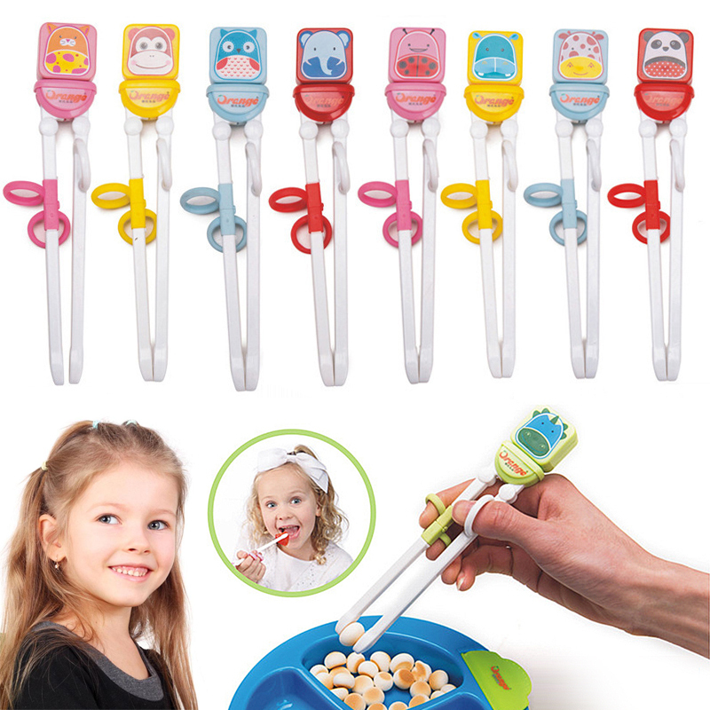 Hot Sale 1 Pair Cute Cartoon Chopsticks Children's  Learning Training Chopstick Baby Eating Practice Chopsticks Learner Gifts