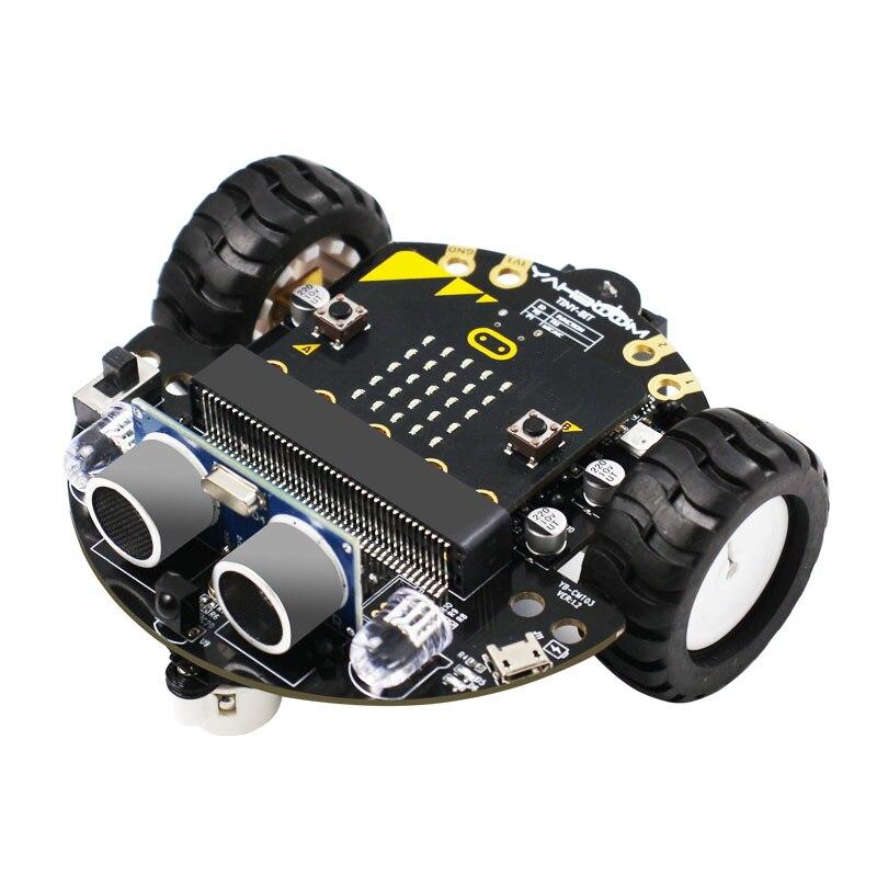 Programming Toys Robot Smart Car Starter Kit for BBC Micro:bit Microbit Robotics STEM Educational Set for Kids for Python