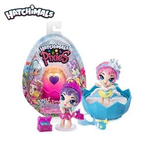 Подлинный S6 Hatchimals Pixies Королевский Снежный шар 8 цветов случайно отправленный люк яркая глухая коробка сюрприз Волшебные яйца подарок детям ...