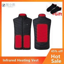 Умный электрический нагревательный жилет для зарядки Bback куртка с подогревом для мужчин и женщин зимняя верхняя одежда с воротником-стойко...
