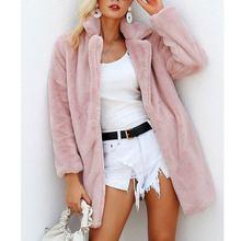 Новая женская куртка из искусственного меха пальто повседневный