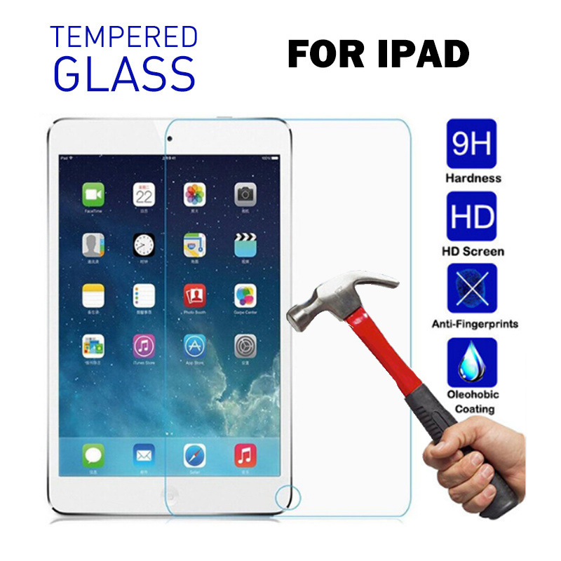 For IPad 2 3 4 5 6 7th 9.7 2017 2018 Pro 11 2020 Tempered Glass For IPad Air 3 10.5 10.2 2019 Mini 2 3 4 5 Screen Protector Flim