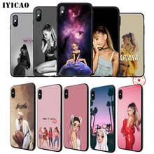 IYICAO Ariana Grande Ag Soft Phone Case for iPhone 11 Pro XR X XS Max 6 6S 7 8 Plus 5 5S SE Silicone TPU 7 Plus ciciber for iphone 7 8 6 6s plus 5s se x xr xs max soft silicone tpu cover for iphone 11 pro max phone case ariana grande coque