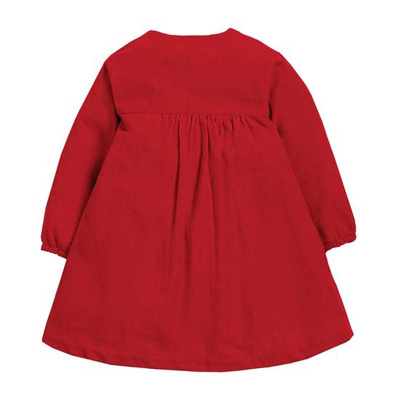 Little maven Girls Dress with Single-breasted 2021 Christmas Dress for Baby Girls Corduroy Cow Girls Wedding Dress Kids Dress 3