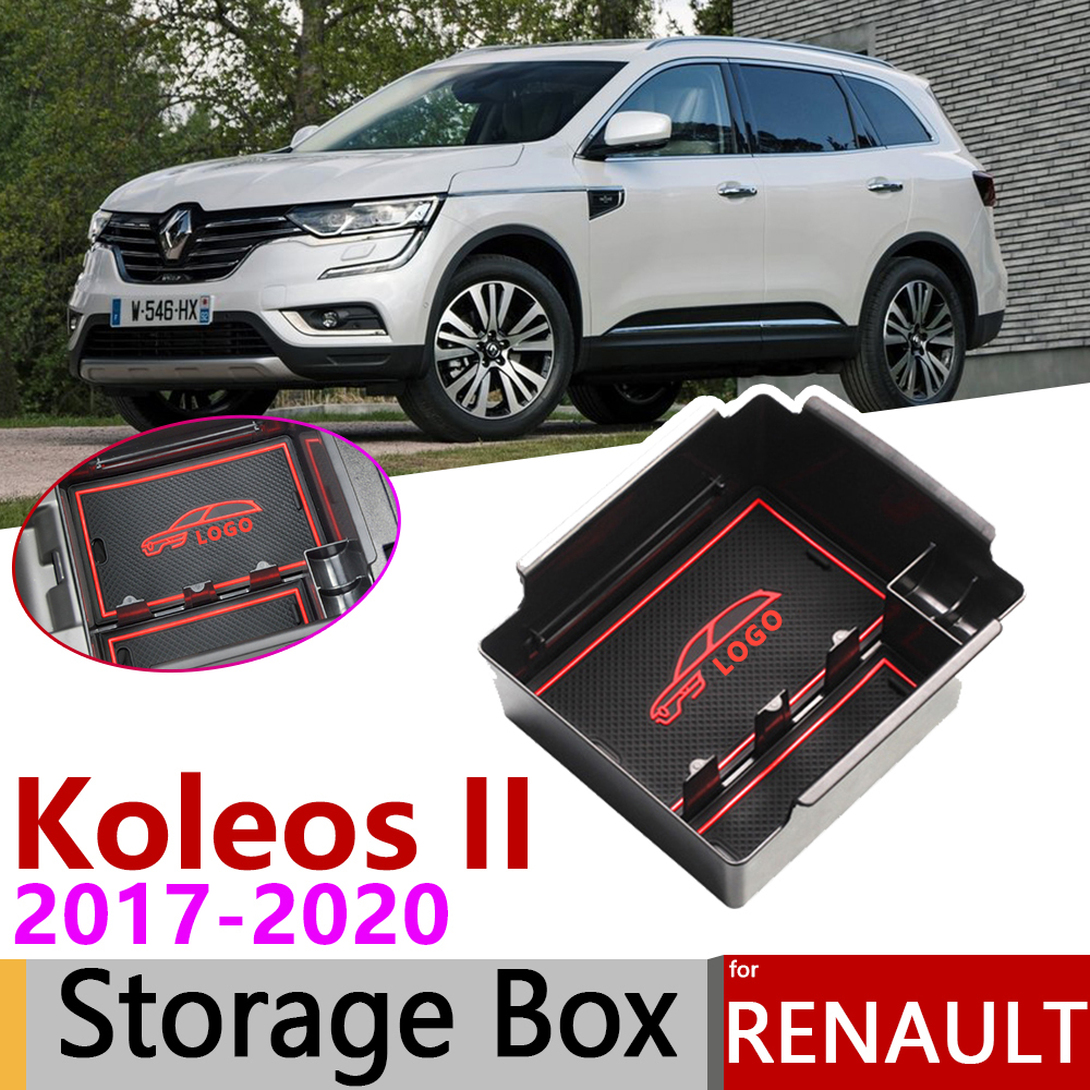 for Renault Koleos 2 MK2 Samsung QM6 2017 2018 2019 2020 of Armrest Box Storage Stowing Tidying Car Organizer Accessories