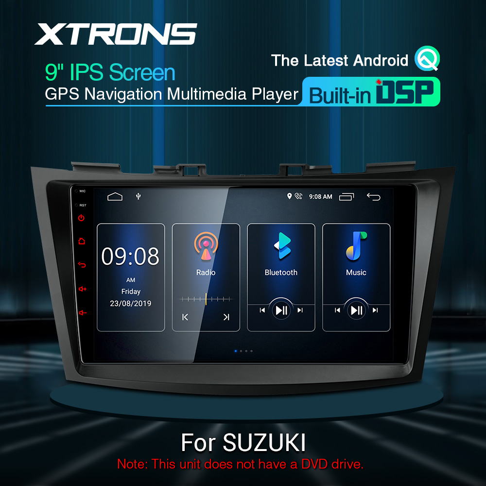 9'' IPS Android 10 DSP Car Multimedia Stereo GPS radio Player for SUZUKI SWIFT 2011 2013 2014-2017 Ertiga 2012 GPS NO DVD image