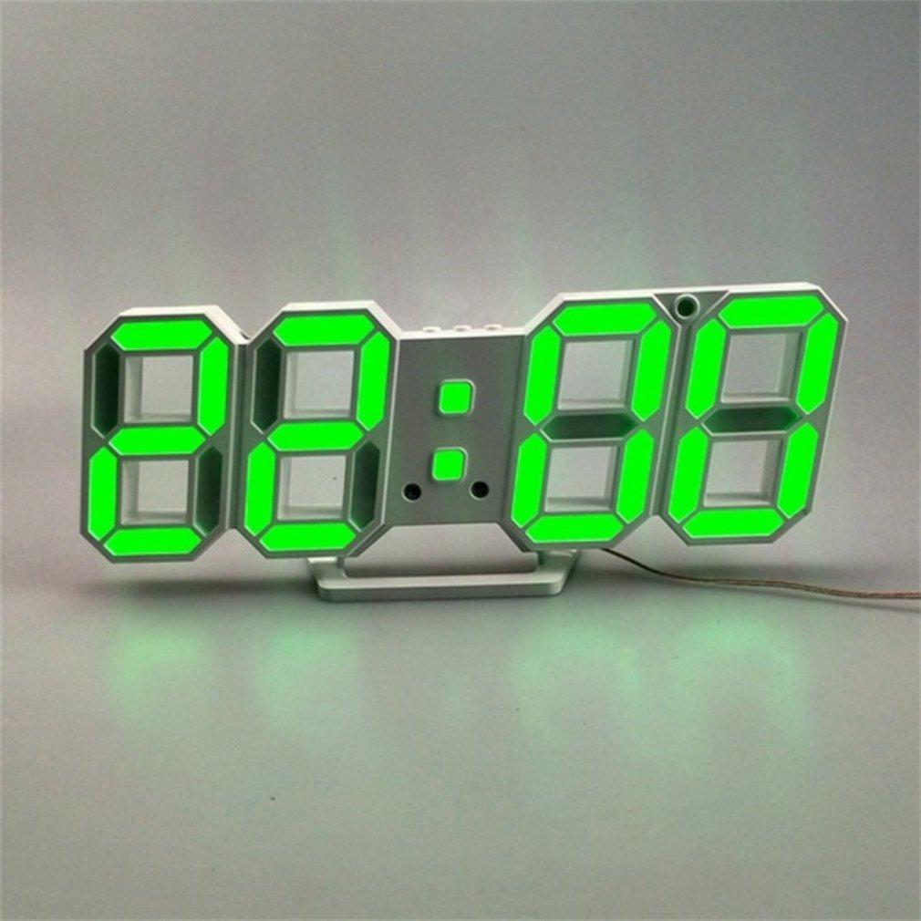 3Dled цифровой Настенный электронный будильник большой цветной светодиодный дисплей будильник и Повтор Календарь Часы 1 шт.|Будильники|   | АлиЭкспресс