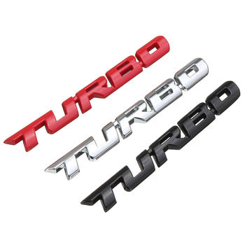 Brand 3D Car Styling Sticker Metal TURBO Emblem Rear Tailgate Badge for Ford Focus 2 3 ST RS Fiesta Mondeo Tuga Ecosport Fusion metal 3d st logo chrome refitting styling car emblem badge auto exterior decal sticker for ford focus mk2 rs kuga mondeo fiesta