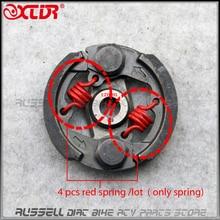 4 pcs red spring for Racing Heavy Duty 2 Stroke Mini Moto Clutch Pad 43cc 47cc 49cc Engine Pocket Dirt Bike ATV Quad Crosser