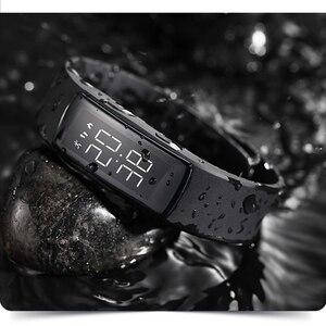 Image 4 - Montre Bracelet électrique pour femmes, étanche, horloge lumineuse, Camouflage, mode, chargement intelligent, LED