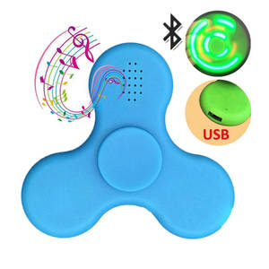 Spinner Speaker Funny Mini Bluetooth LED Toy Gyro Good-Gift Fingertip as