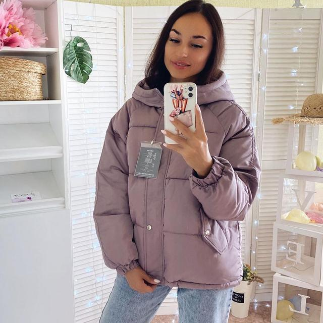Winter women Parkas coat 2020 casual thicken warm hooded padded jackets Female solid colorful styled outwear snow jacket 2