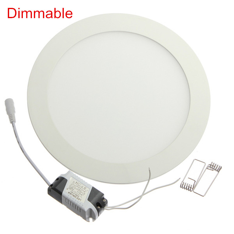 Dimmable Ultra Thin 3W/4W/ 6W / 9W / 12W /15W/ 25W LED Ceiling Recessed Downlight / Slim Round Down Light 85V-265V + LED Driver