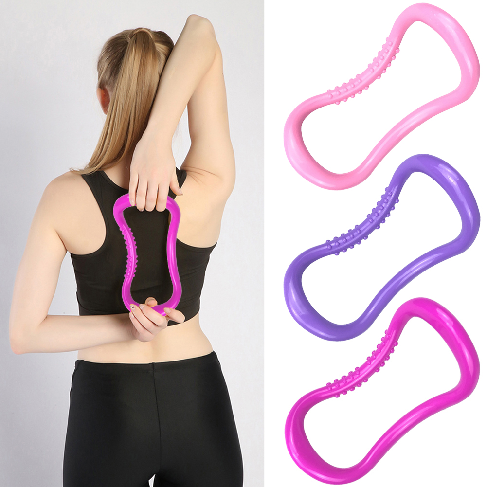 Fitness Exercise Yoga Circle Pilates Workout Training Stretch Trainer Ring  Fitness Circle Training Resistance Support Tool Calf