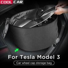 Wheel Cap Storage Bag for Tesla Model 3 Model Y Car Portable Carrying Wheel Hub Cover Oxford Storage Bag 1pcs/set