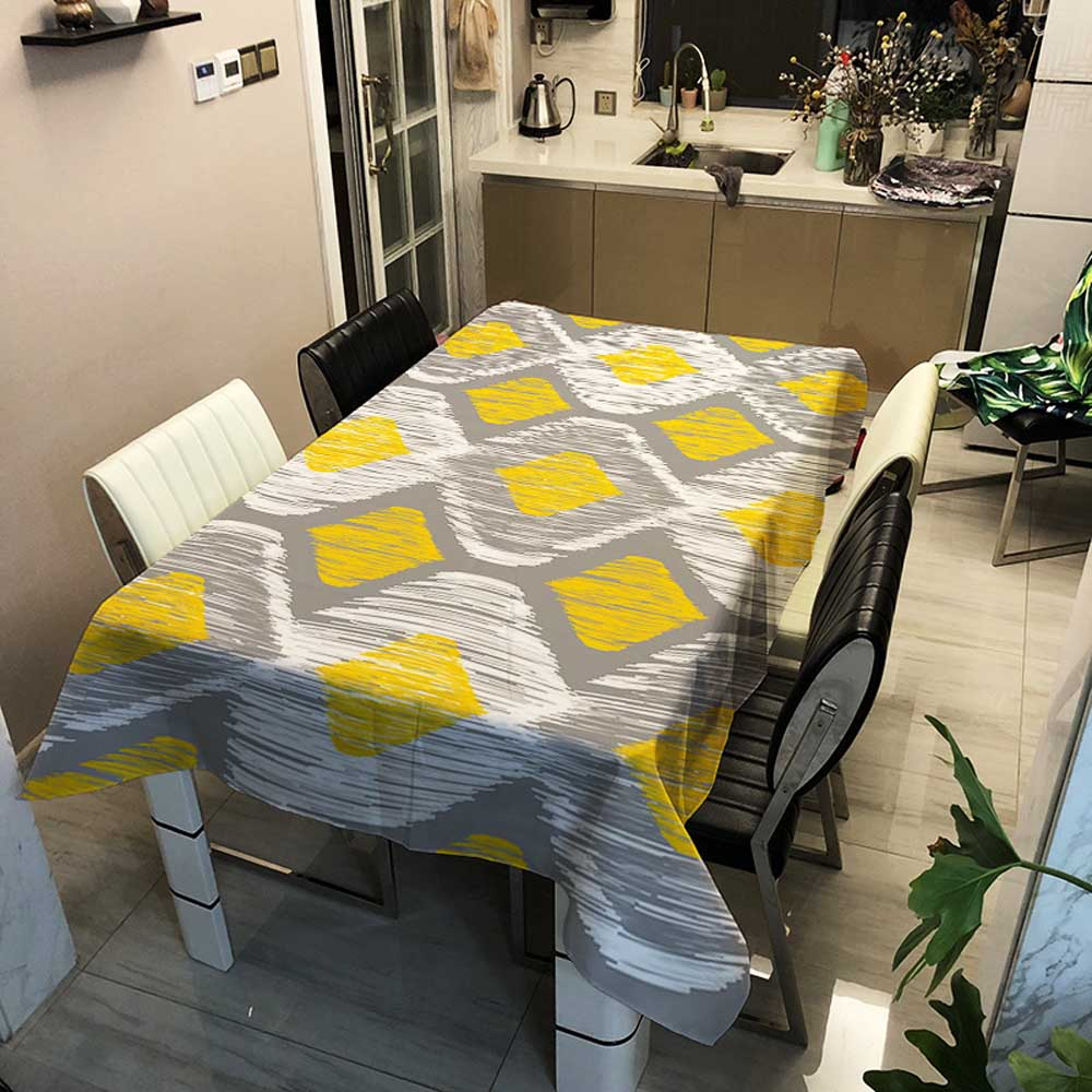 Thick Oil Proof Waterproof Rectangle Tablecloth Print Wedding Birthday Party Dining Hall Table Desk Cloth Covers Table Cloth