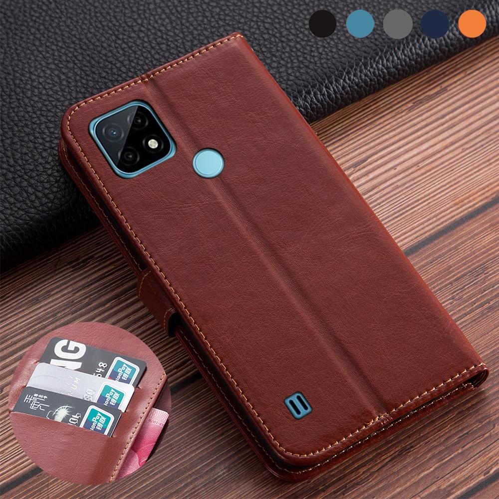 Роскошный кожаный чехол-книжка для OPPO Realme C21 чехол Realme C21 C 21 NFC чехол для realme C21 6,5 дюймов противоударный чехол