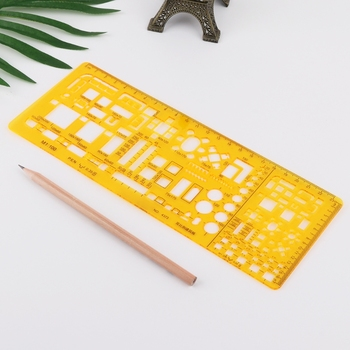 Professional Architectural Template Ruler Drawings Stencil Measuring Tool Supply WXTA architectural drawings