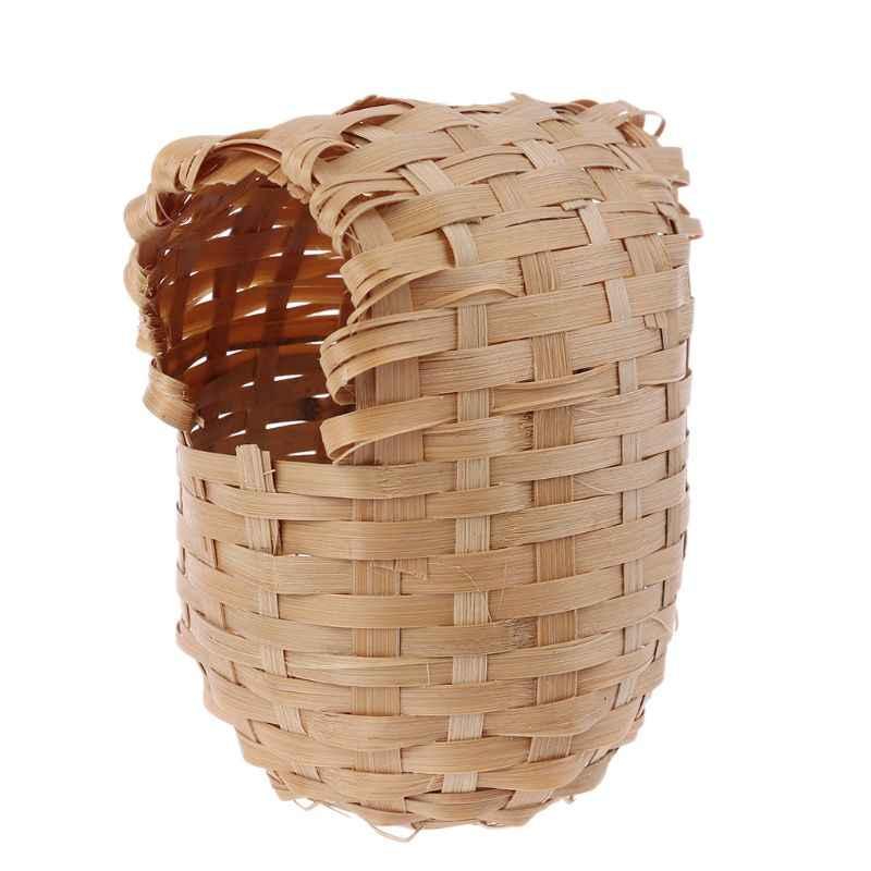 Maison d'oiseau en bambou naturelle   Maison en bambou naturelle, fait à la main, Cage de protection, jouet, abri de cabane extérieur