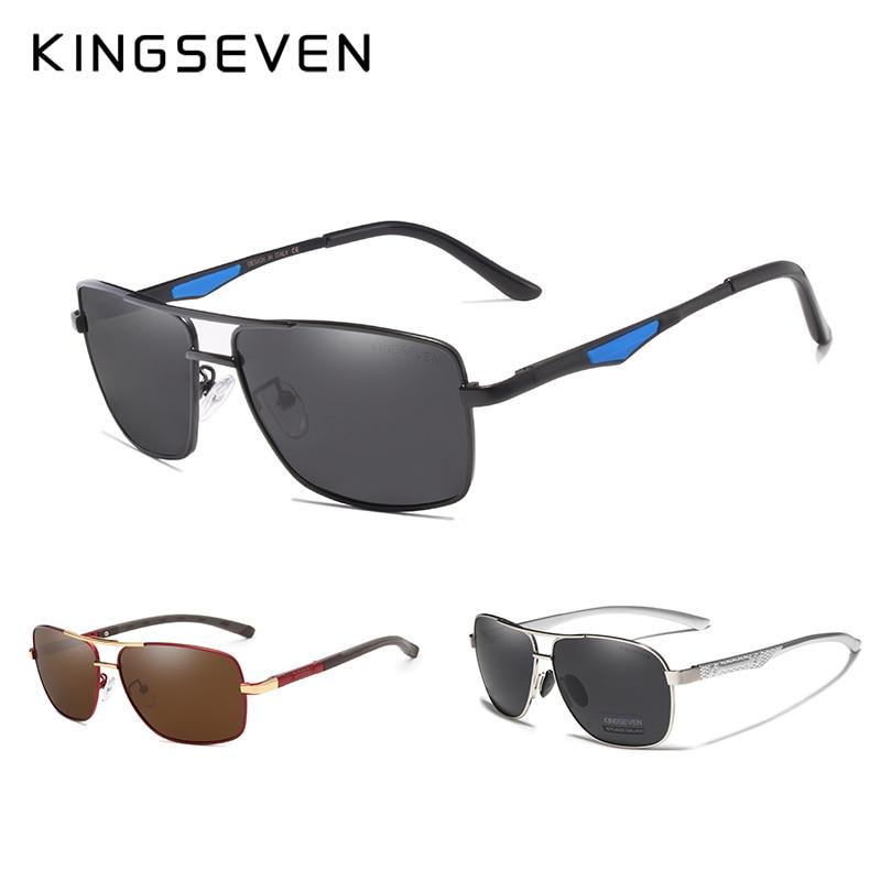 3PCS Combined Sale KINGSEVEN Brand Design Sunglasses Men Polarized Mirror Lens 100% UV Protection Oculos De Sol