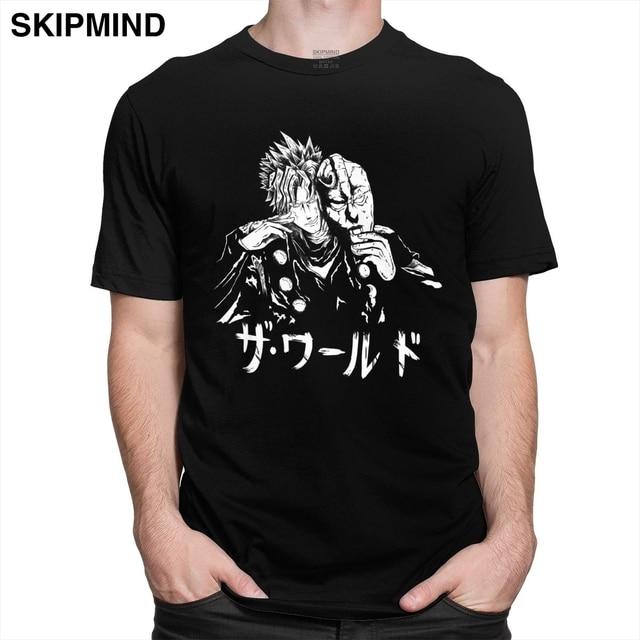 Novelty Jojo Bizarre Adventure Tshirts Men Cotton Dio Brando Tee Tops Round Collar Short Sleeve Japan Manga Fans T-shirt Clothes 1