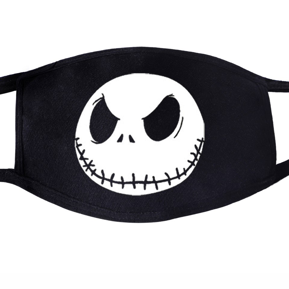Jack Skull Face Mask Mouth Cool Funny Smile Anti Dust Unisex Black Muffle Dustproof Facial  Cover Hip Hop Masks