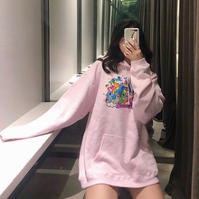 2019 Pink Sweatshirt The Same Hooded Suit with Long Sleeves Fashion Women