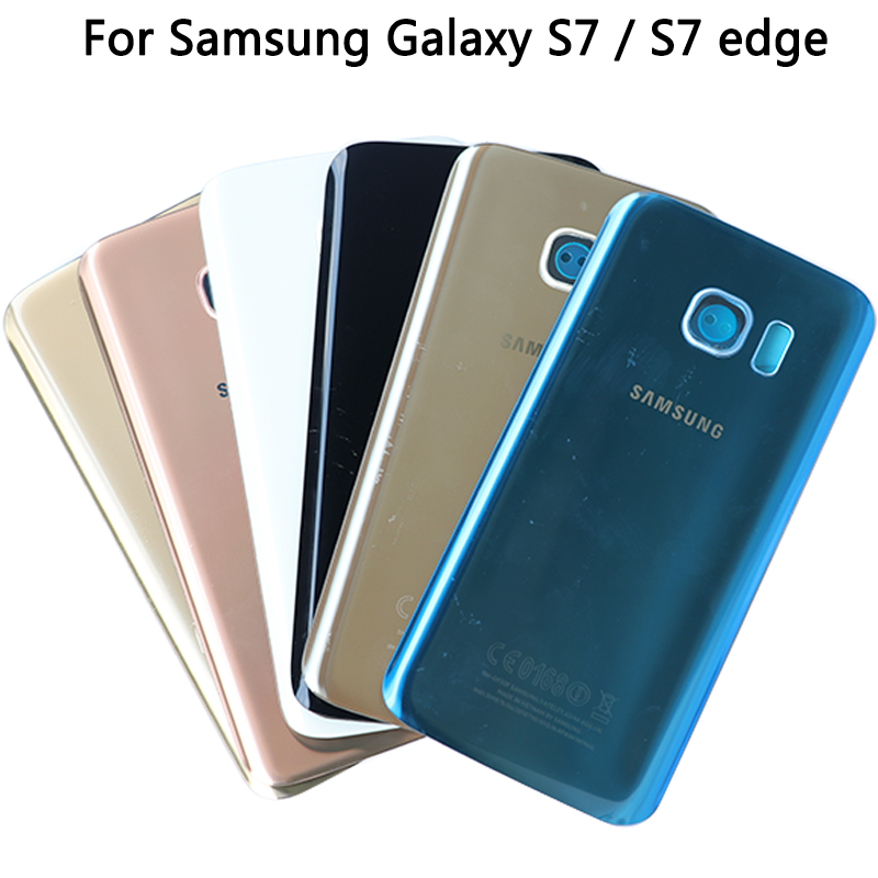 For Samsung Galaxy S7 G930 / S7 Edge G935 Battery Cover Rear Glass Door Panel Housing For S7 Back Cover Housing Case