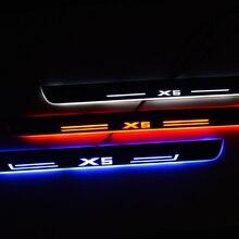عتبة باب LED لسيارات BMW X5 F15 X6 F16 2014 2017 عتبة دواسة ترحيب أضواء Nerf القضبان تشغيل لوحات سيارة لوحة بالية الحرس