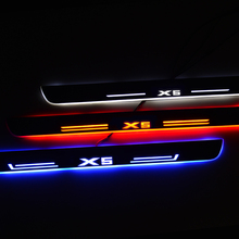 LED Door Sill for BMW X5 F15 X6 F16 2014 2017 Pedal Threshold Welcome Lights Nerf Bars Running Boards Car Scuff Plate Guards