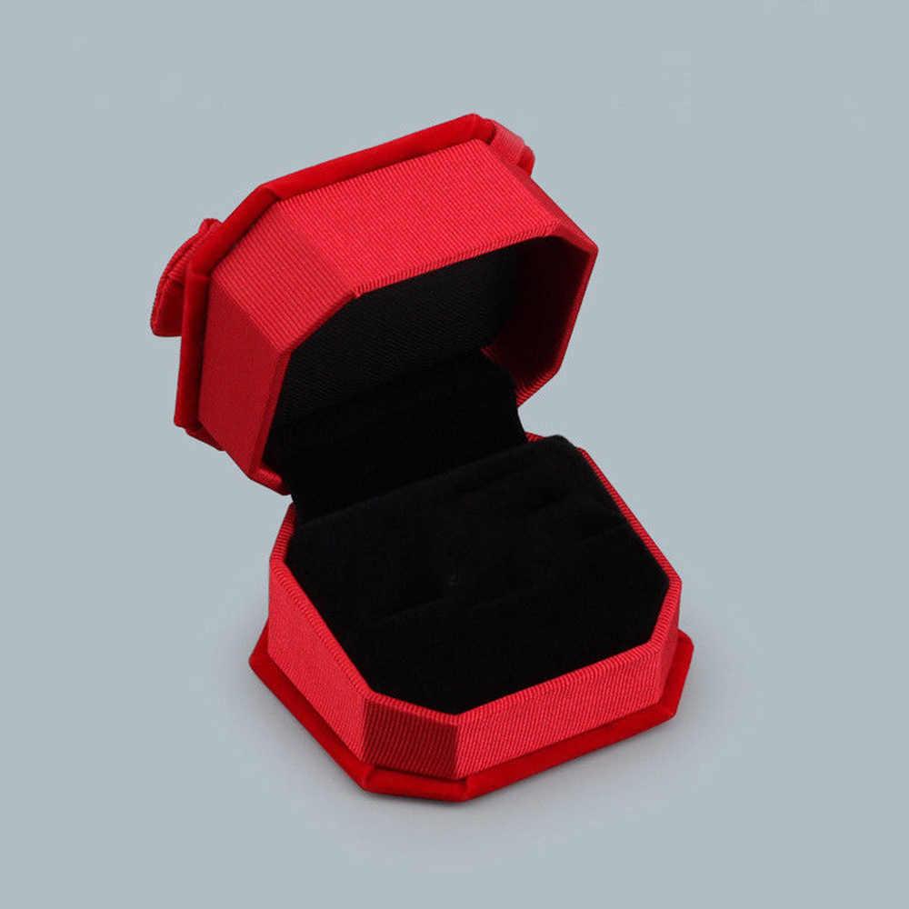 Anel de noivado Para Brincos de Exibição de Jóias Anel de Noivado Para Brincos de Qualidade de Embalagem Caixa de Presente do Sexo Feminino