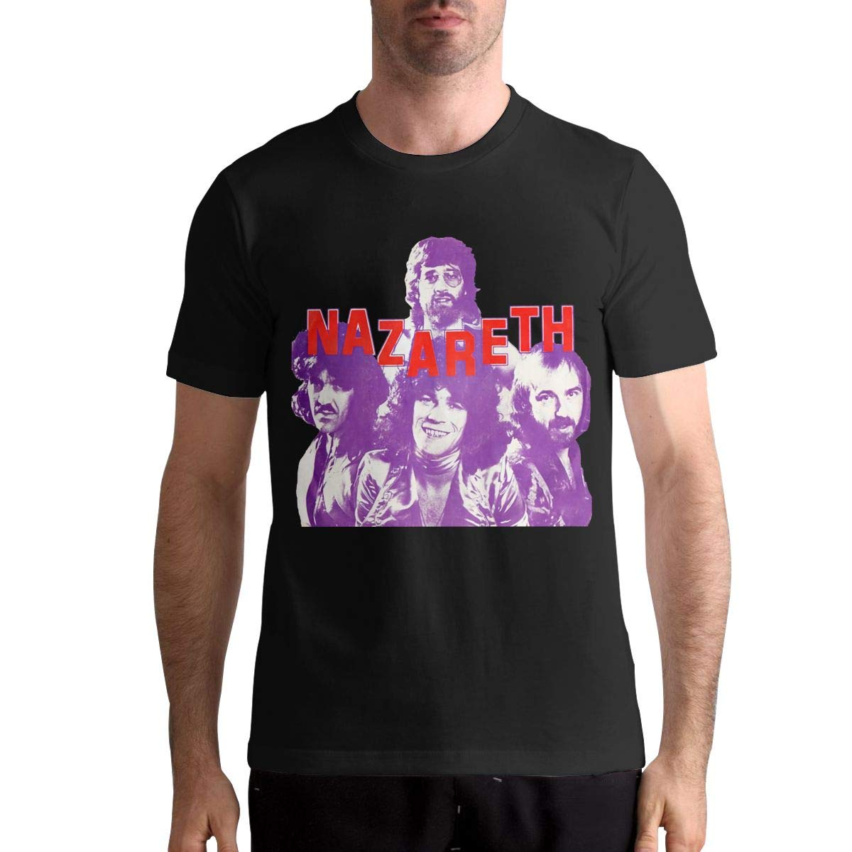 Nazareth Hard Rock Band Pattern Men's Ultra Cotton Adult Fashion T-Shirt Black Hot Selling 100 % Cotton Tee Shirts top tee image