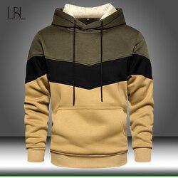 Patchwork Hoodies Men 2020 Autumn Casual Long Sleeve Hoodie Mens Sweatshirts Pullover Hoody Male Winter Warm Hooded Streetwear