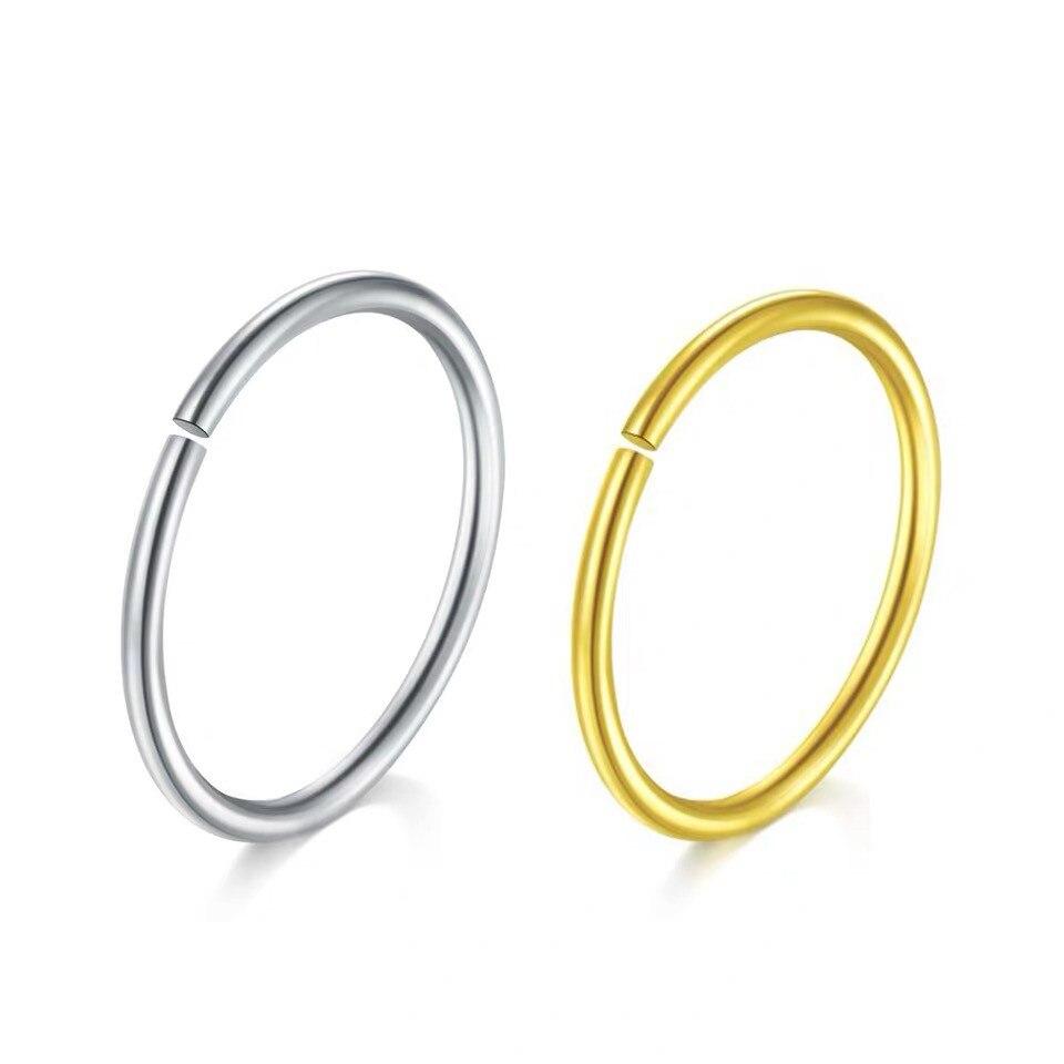 100 925 sterling silver rose gold hoop earrings for women mini small Simple circle 2019 ear bone 6 12mm Piercing Jewelry gifts in Hoop Earrings from Jewelry Accessories