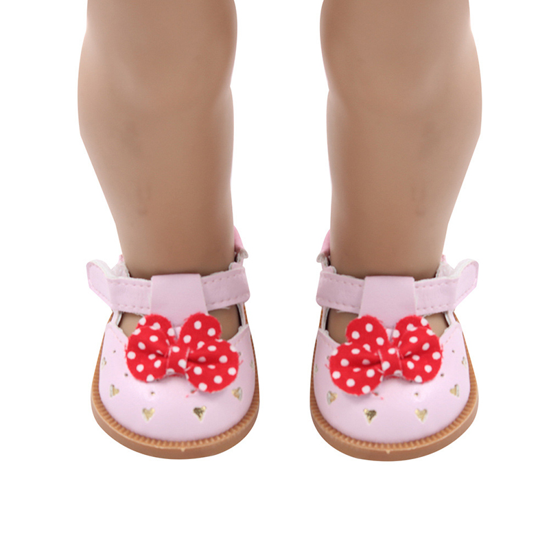 Image 5 - لطيف دمية الأحذية 7 سنتيمتر عالية الجودة القوس الكرتون الجمجمة نمط أحذية صغيرة ل 18 بوصة الأمريكية والطفل جديد برون دميات لعبة 1/3 BJDاكسسوارات الدمى   -