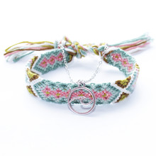 free shipping Handmade Weave Bobo Lotus Anklet Set Fashion Starfish 4 Pieces Bohemian Chic Summer Bracelet ankle for Women Gift(China)