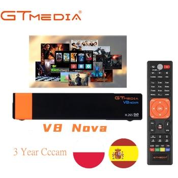 цена на Poland Spain V8 Nova DVB-S2/S FTA Satellite TV Receiver Freesat V8 With 3 Year Europe  Cccam Support AC3 Built-in Wifi H.265