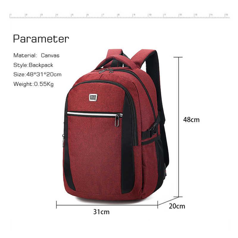 2020 yeni Unisex yüksek kaliteli Oxford kumaş okul çantası iş dizüstü sırt çantası USB şarj portu omuz çantaları bilgisayar Packsack