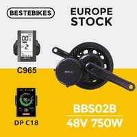 Bafang motor BBS02B 750W 48v 8FUN bbs02 bafang mid drive motor electric bike motor electric bike conversion kit