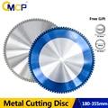 CMCP металлическое режущее полотно 36/48/60/66/80/90T Карбидное дисковое лезвие для циркулярной пилы 180-355 мм нано металлический режущий диск с голубы...