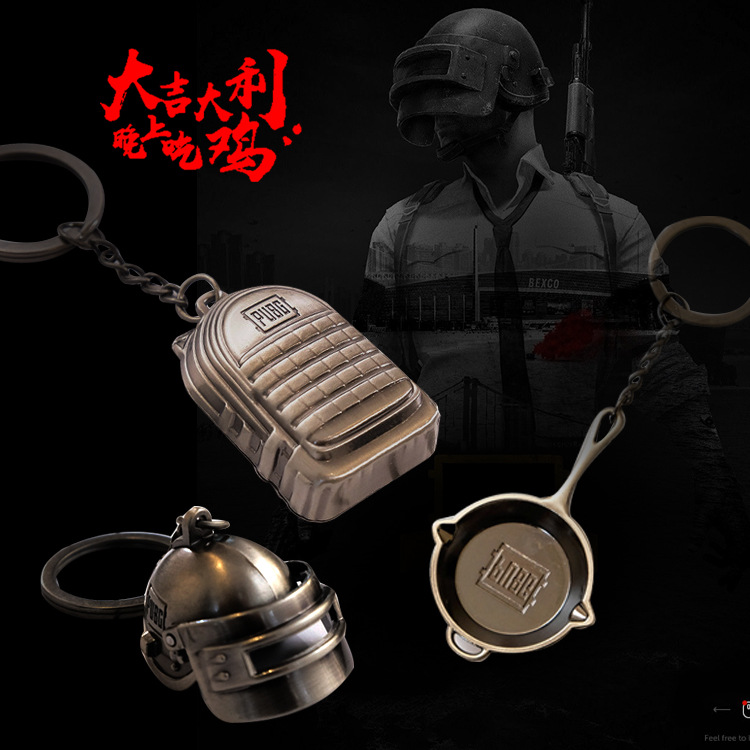 Creative Jedi Survival Battle Royale Game Related Products Keychain Cool Movie Anime Key Pendants image