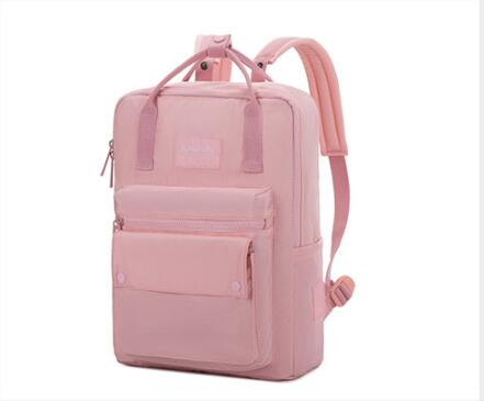 Casual Fashion Lightweight Backpack Oxford Cloth Waterproof Middle School Student Bag Ladies College Wind Pink Backpack