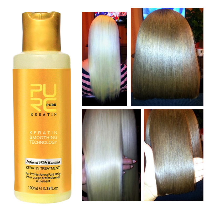 PURC's New 12% Brazilian Keratin Hair Care For Straightening Hair Repairs By Dry Damaged High Speed Lock Water TSLM2