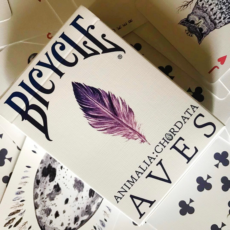 1 Deck Bicycle Cards AVES UNCAGED Playing Cards Regular Bicycle Deck Rider Back Card Magic Trick Magic Props