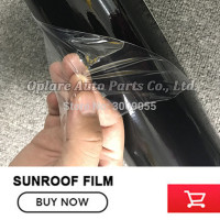 gossy Black film vinyl wrap Car Panoramic Sunroof Sticker black roof car vinyl wraps /sunroof vinyl film Low viscosity